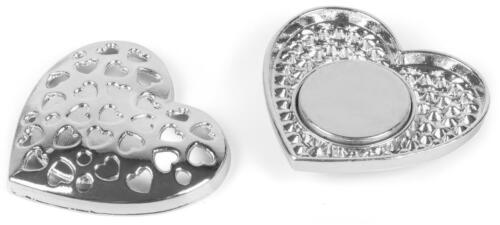Damen Magnet Schmuck Brosche Herz Strass für Schals Tücher oder Ponchos Anhänger