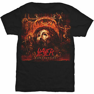 Official Slayer Music T-Shirt Mens Black Relentless Album Art Rock Thrash Metal