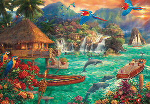 Jigsaw-Puzzle-Island-Life-A-fantasy-town-as-seen-in-a-movie-38-52-cm-500-piece