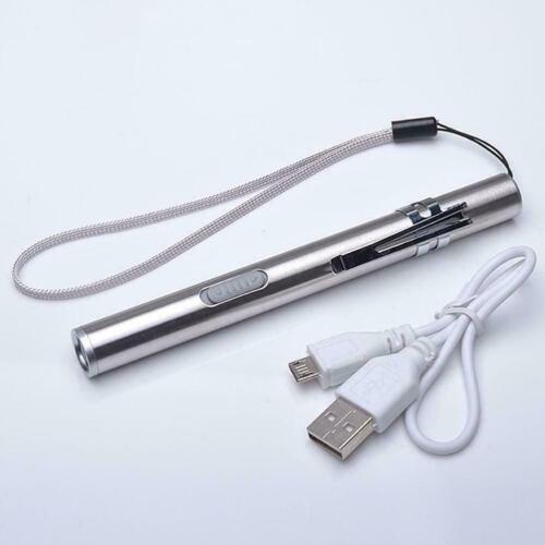 Mini Taschenlampe Taschenlampe LED-Licht Reise Outdoor Sportwiederaufladbar C1G1