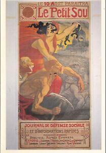Poster-Le-Petit-Sou-Paris-Postcard-unused-VGC