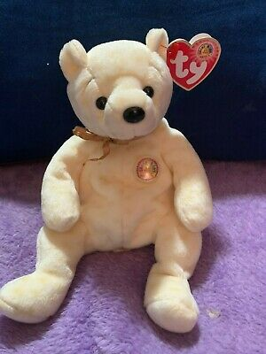 POPCORN the Bear 8 inch MWMTs Stuffed Toy TY Beanie Baby BBOM October 2003
