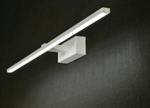 Lampada elegance bianco applique led w k per specchio bagno