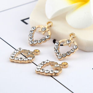 10pcs-Gold-Hollow-Heart-Beads-Charms-Rhinestones-Star-Fit-DIY-Bracelet-20-15mm