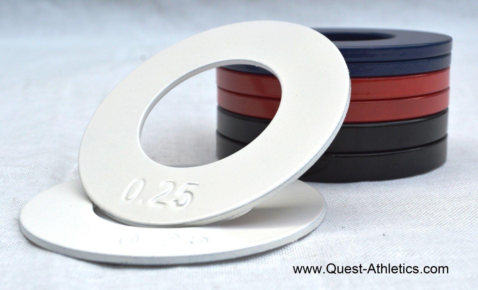 Quest 2 Olympic Fraktional Plate Set - 0.25 Lb, 0.5 Lb, 0.75 Lb, 1.0 Lb Plates