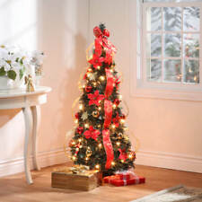 The Thomas Kinkade Pop-up 6 Foot Christmas Tree Pre-decorated 76x30 ...
