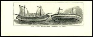1875-Antique-Print-SHIPPING-Reversible-Patent-Lifeboat-06