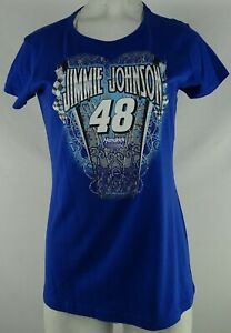 #48 Jimmie Johnson Nascar Women's Blue Short Sleeve T-Shirt