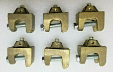Lot Of 9 Ground Rod Clamps Bronze Assorted Styles Nine Clamps 9x 9pcs New
