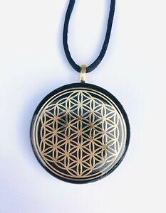 Elite-Shungite-Orgonite-Necklace-FLOWER-OF-LIFE-Pendant