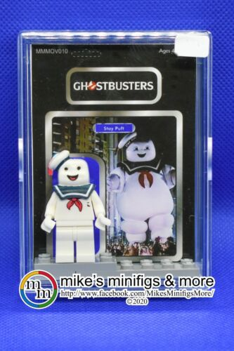 Ghostbusters STAY PUFT Custom Carded Minifigure Display Mini-Figure Marshamallow