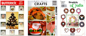 Christmas-amp-Holiday-Sewing-Patterns-OPP-Decorations-Dolls-Clothing-Choose