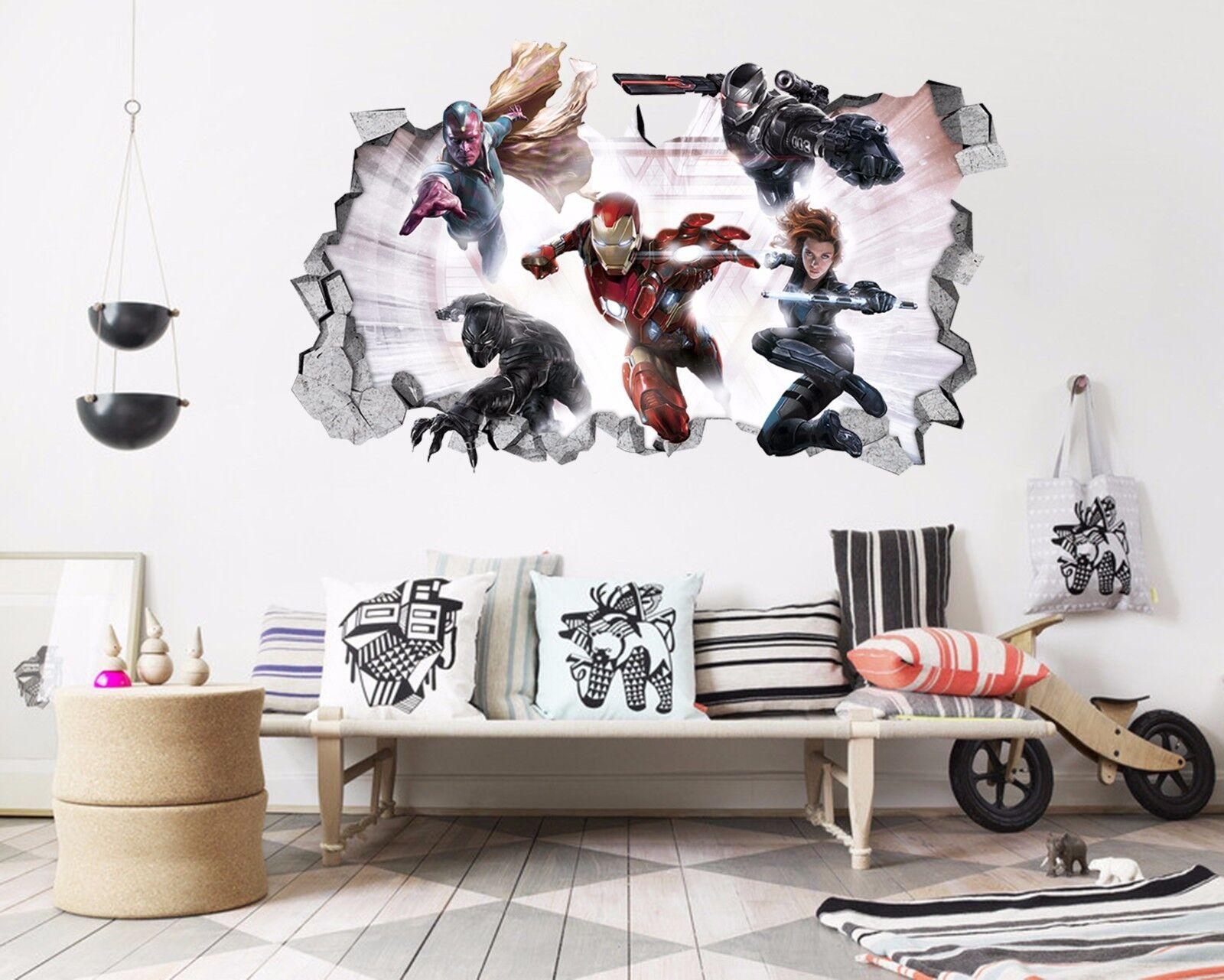3D Heldenkrieger 89 Mauer Murals Mauer Aufklebe Decal Durchbruch AJ WALL DE Kyra