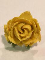 Tarina Tarantino Flower Picker Yellow Rose Adjustable Ring