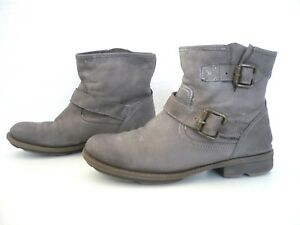 75d402c95dd3 Boots cuir gris ♥ WEINBRENNER ♥ Taille 37 bottines low pointure ...