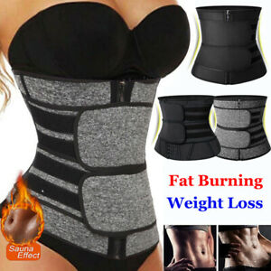 Latex Waist Trainer Corset Body Shaper Cincher Neoprene Sauna Sweat Shapewear UK