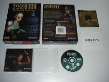 TOMB RAIDER III 3 PC CD ROM ORIGINALE BIG BOX-veloce, sicuro POST