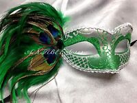 Peacock Feather Women Venetian Masquerade Costume Ball Prom Party Mask