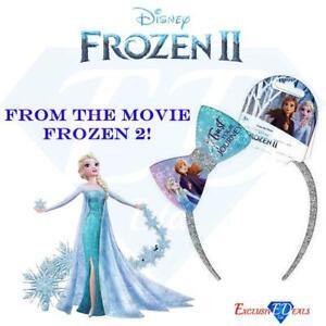 Licensed Disney Frozen Elsa /& Anna Blue Bow Alice Band /& 2 Ponios Elastics