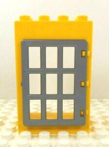 Lego Duplo Item Door Frame w// jail door Red w// white