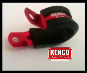 Details about Kenco Dash AN 6 8 10 Cushioned Aluminium P Clamps Speedway  Drag Hose Street Rod