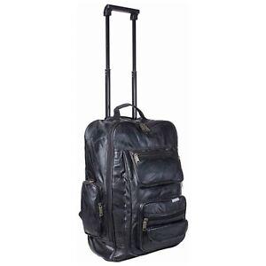 Genuine-Leather-Trolley-Backpack-Travel-Bag-Embassy-Italian-Stone-Design