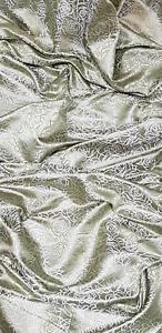Black White Floral Print Crepe Georgette Fabric 45/'/' PRICE PER METER