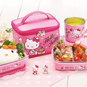 sanrio hello kitty stainless steel bento lunch box food. Black Bedroom Furniture Sets. Home Design Ideas