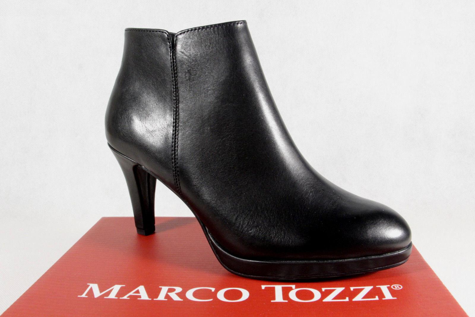 Marco Tozzi Stiefel, Stiefeletten, schwarz, Reißverschluß, gefüttert 25392 NEU