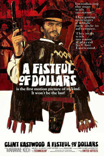 Details about  /H535 Clint Eastwood A Fistful of Dollars Classic Movie Art Silk Poster New