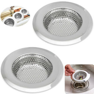 Image Is Loading Stainless Steel Kitchen Sink Strainer Waste Plug Drain