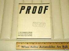 "1934 REO ""Self Shifter"" Testimonials Brochure Catalog"