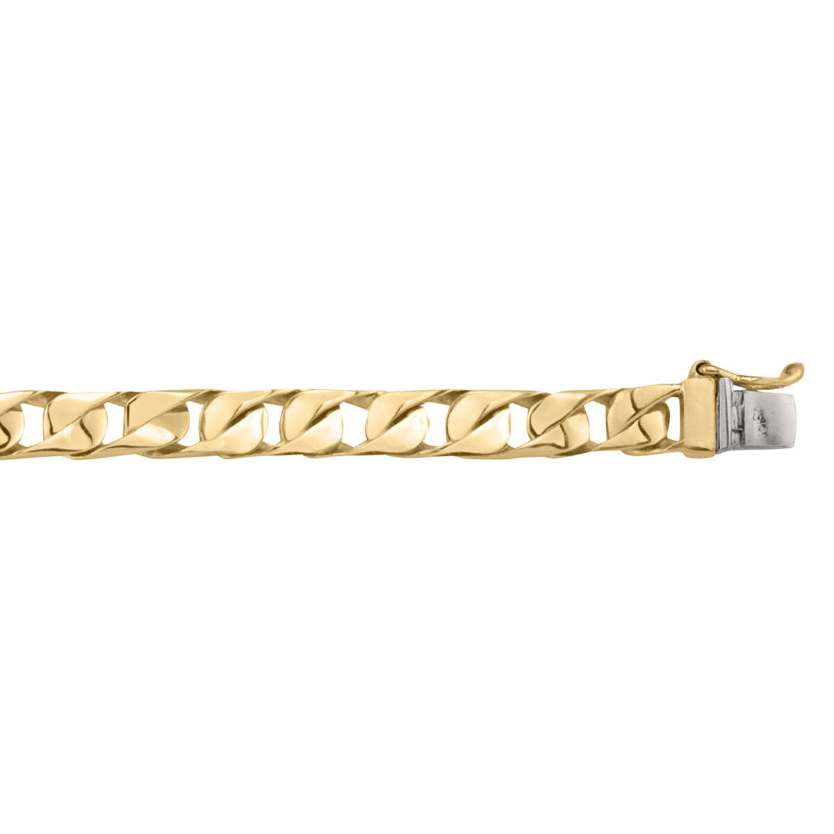 10k - 18k Yellow gold Bracelet, 17.5 - 23.5 grams, 8.5 , 6.1mm, NEW