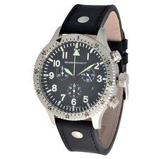 Messerschmitt ARISTO Herren Quarz Cronograph 5ATM Model 5030LS Lederarmband