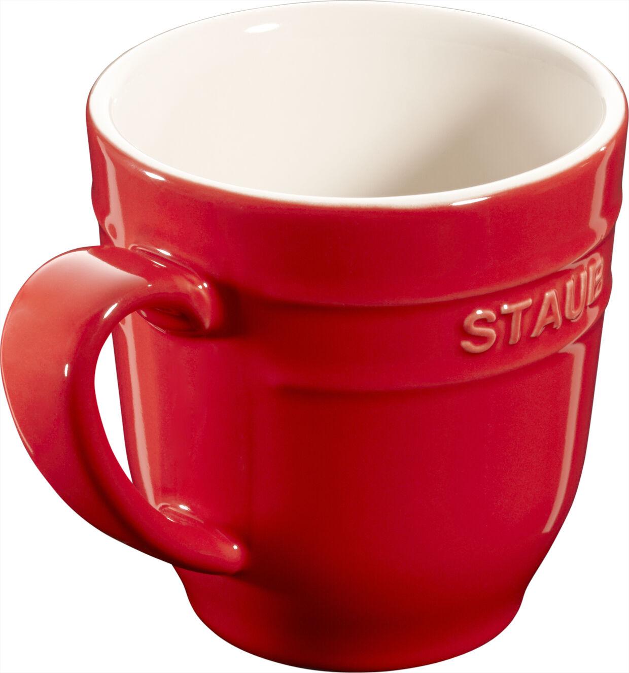 4er set poussière céramique tasse de café gobelet tasse à café tasse environ Cherry 0,35l