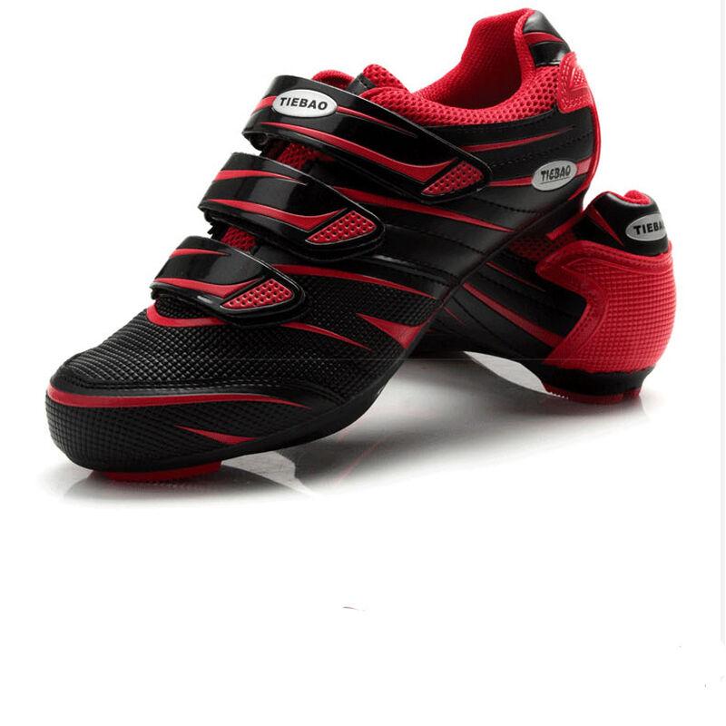 Tiebao Road Bike zapatos zapatos deportivos zapatos de bloqueo de Ciclismo Profesional Negro Rojo Nuevo