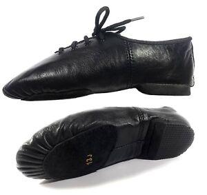 JAAZ-DANCE-MODERN-STAGE-100-LEATHER-SHOES-SPLIT-SOLE-RUBBER-HEEL-HANDMADE-JAZZ