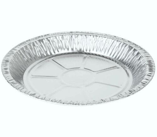 """50 x Foil Pie Round 7¾/"""" Plate 16mm Deep Fruit Baking Aluminium Foil Dishes Steak"""