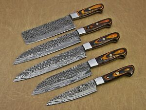 Hand Forged Hammered Damascus Steel 5