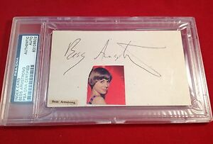 Bess Armstrong signed Index Card Slabbed PSA/DNA #83106502