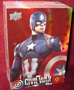Captain America Civil War Blue Foil Parallel Base Card #44