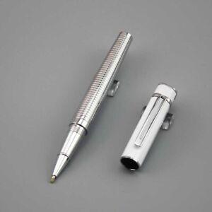 Luxury-Rollerball-Pen-Silver-High-Quality-Classic-Pen-Elegant-Unique-Design-Gift