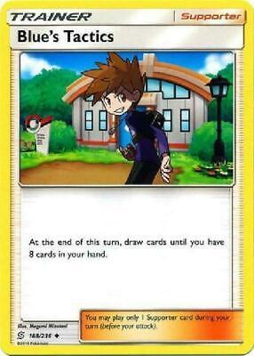 NM FULL ART Pokemon BLUE/'S TACTICS Card UNIFIED MINDS Set 231//236 Rare Trainer