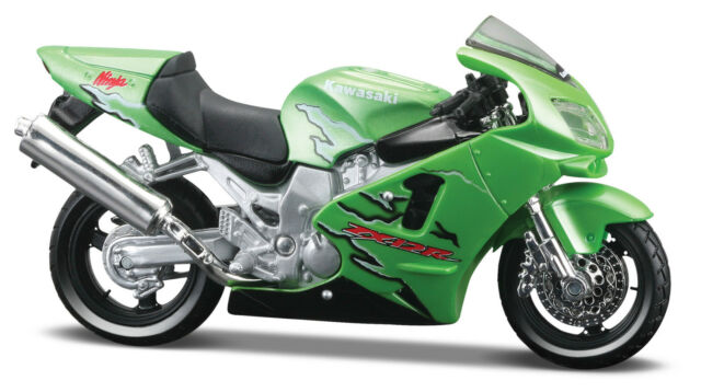 Kawasaki Ninja ZX-12R Green Scale 1:18 Die Cast Bike Model from maisto