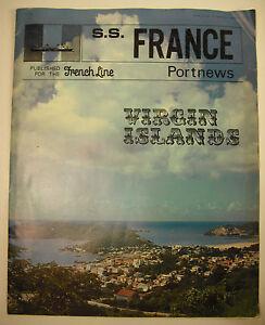 Company-Transatlantique-French-Lines-S-S-France-Cruise-Liner-Virgin-Islands-1969