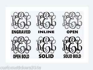 Details About Custom Monogram Personalized Vinyl Decal Stickers Small Large Fast Shipping