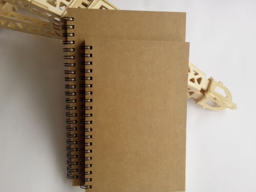 A5 Spiral Hard Cover Sketch book Wire bound Notebook Drawing Journal 100 Pages