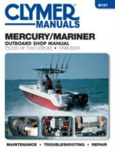 Mercury//Mariner 75-250 HP Two-Stroke Outboards 1998-2009 Workshop Manual NEW