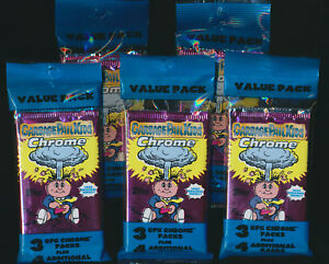 2013-TOPPS-GARBAGE-PAIL-KIDS-CHROME-GPK-Series-1-VALUE-PACK-LOT-5-VALUE-PACKS