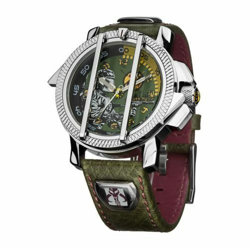 Authentic Boxed Star Wars Boba Fett Gents  Collectors Watch w/ Leather Strap